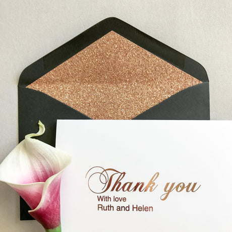 PERSONALISED THANK YOU CARD - ROSE GOLD