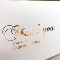 Personalised Thank you Card - Rose Gold -  cards - Adore Paper