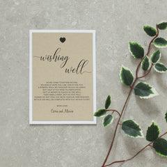 Rustic Love Wishing Well -  invitations - Adore Paper