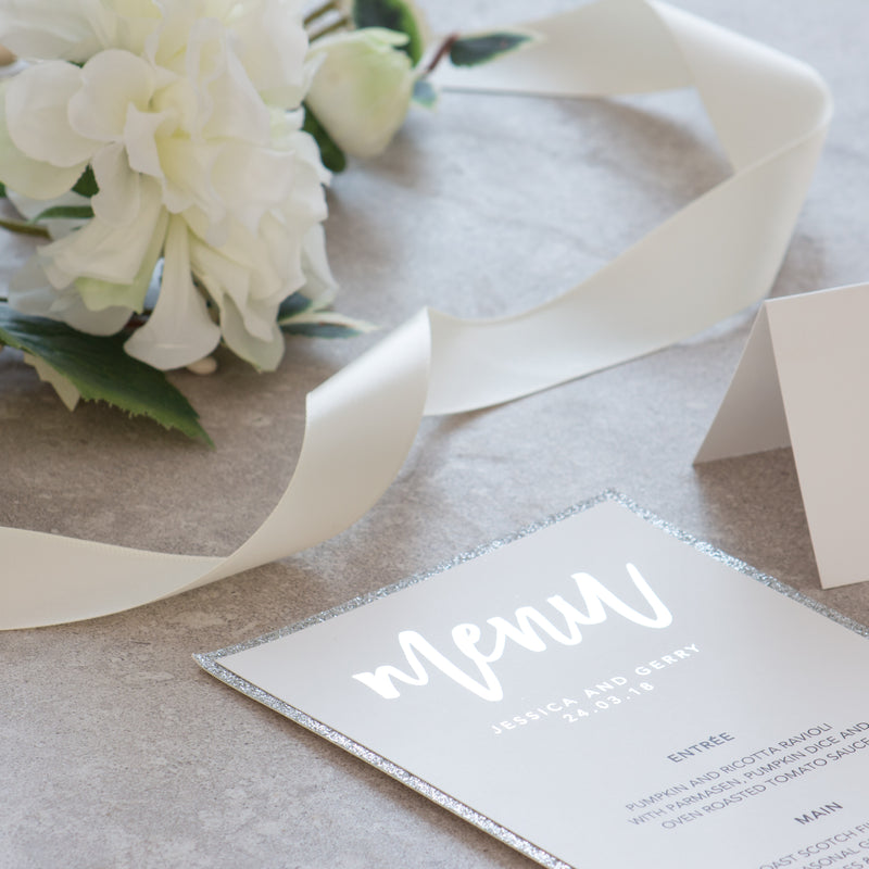 Elegance - Menu -  invitations - Adore Paper