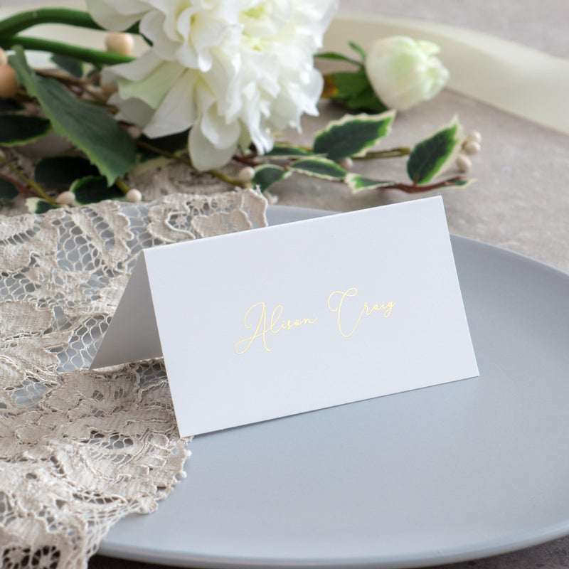 Love and Romance - Place Cards -  invitations - Adore Paper