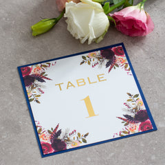 Fall In Love - Burgundy Table No. -  Table numbers sign - Adore Paper