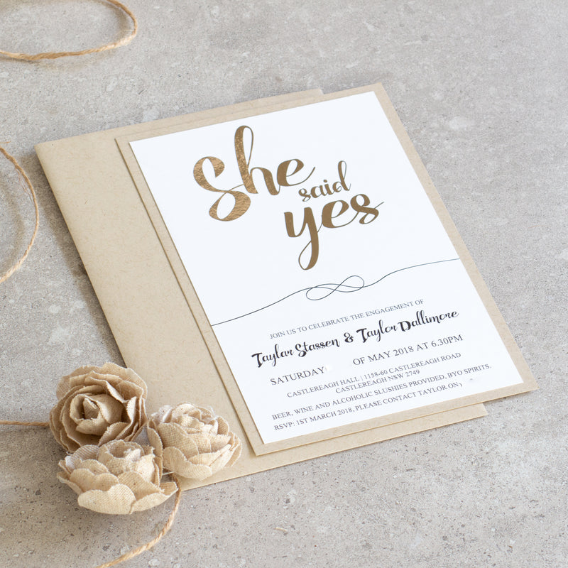 I Do -  invitations - Adore Paper