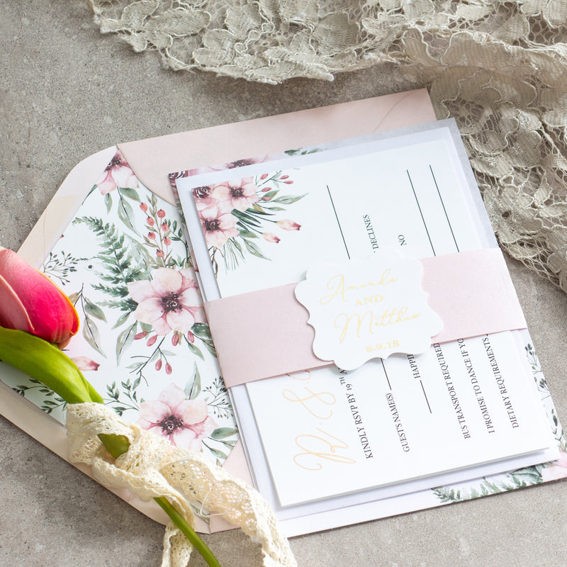 Fall In Love Suite - Blush -  invitations - Adore Paper
