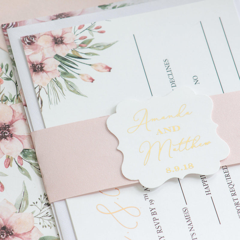 Fall In Love - Blush Invitation -  invitations - Adore Paper