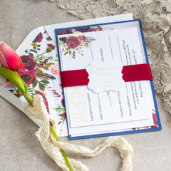 Fall In Love Suite - Burgundy -  invitations - Adore Paper