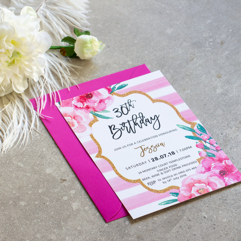 Pretty In Pink - Invitation -  invitations - Adore Paper