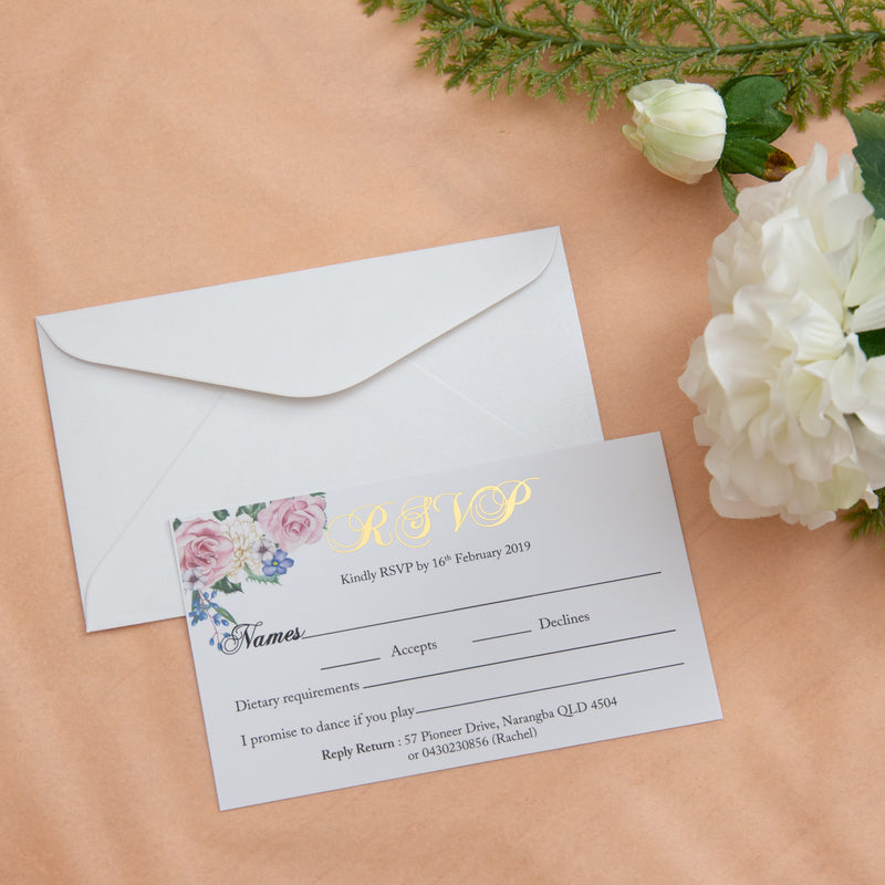 Secret Garden - RSVP -  invitations - Adore Paper