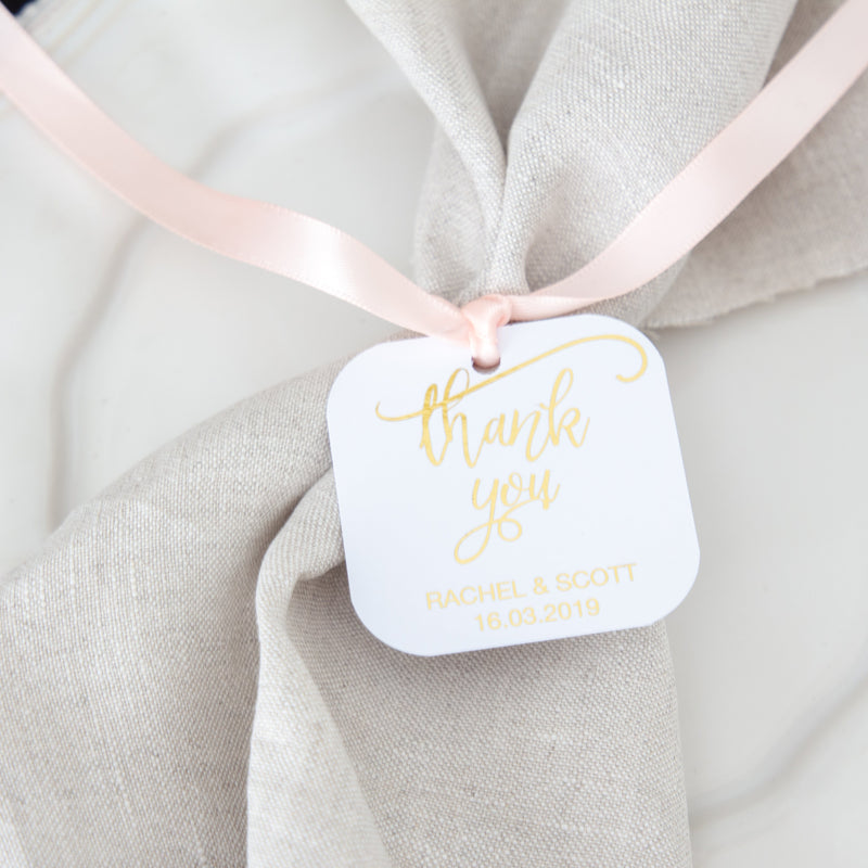 Square Cushioned Tags -  invitations - Adore Paper