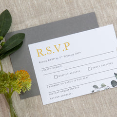 Enchanted - RSVP -  invitations - Adore Paper