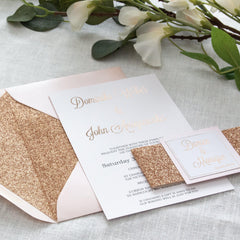 Dusky Rose - Invitation Suite -  invitations - Adore Paper
