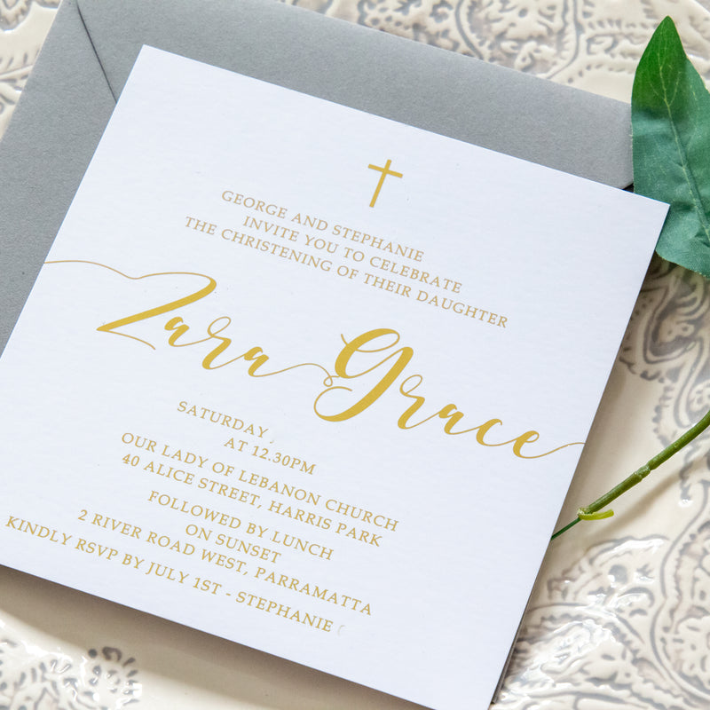 Grace - Religious Invitation -   - Adore Paper