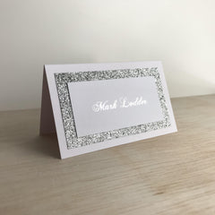 White Winter - Place Cards -  invitations - Adore Paper