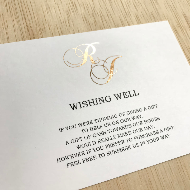 Emblem - Wishing Well -  invitations - Adore Paper