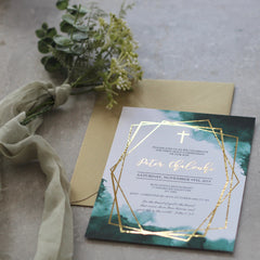 Emerald Love - Invitation -  Invitation - Adore Paper