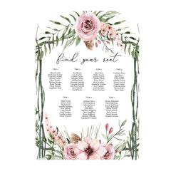 Romantic - Seating Chart -   - Adore Paper