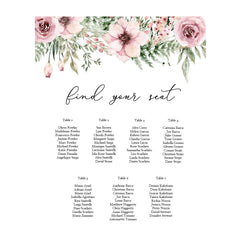 Fall In Love - Seating Chart -   - Adore Paper