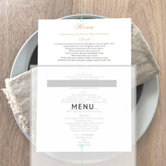 Menu -  invitations - Adore Paper
