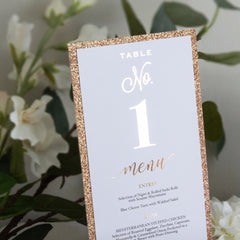 Diamond Sparkle - Menu -  menu - Adore Paper