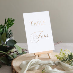 Table Number -  invitations - Adore Paper
