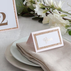 Dusky Rose -  Place Cards -  Place Cards - Adore Paper