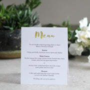 Freestanding Menu