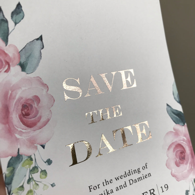 Blushing Pink - Save The Date -  invitations - Adore Paper