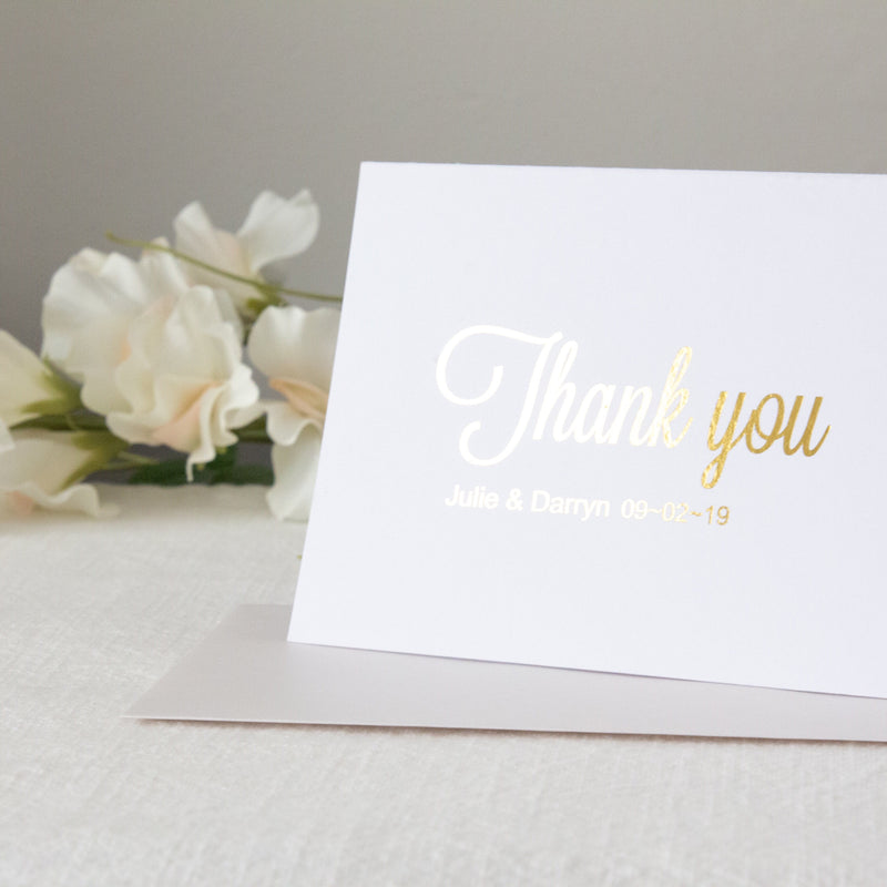 Dusky Rose - Thank you -  Thank you Cards - Adore Paper