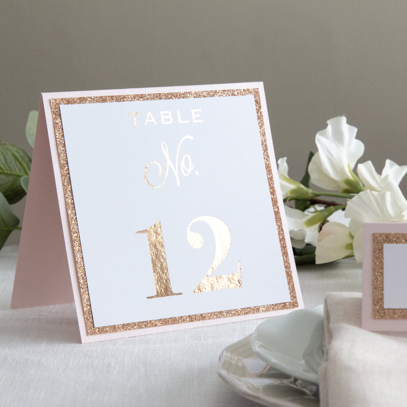 Dusky Rose Table Numbers -   - Adore Paper
