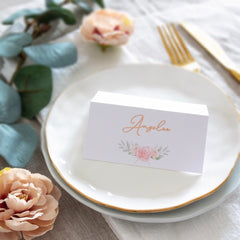 Floral Blush - Place Cards -  invitations - Adore Paper