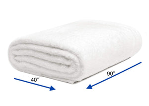 "Crisp White - Jumbo Bath Towel 40"" x 90"""