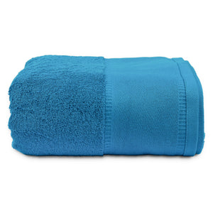 oversized blue bath towel