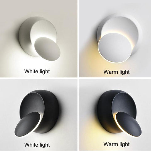 Wall Light LED Moon Eclipse Rotation Wall Hanging Lamp Creative Simple  Decoration Lamps