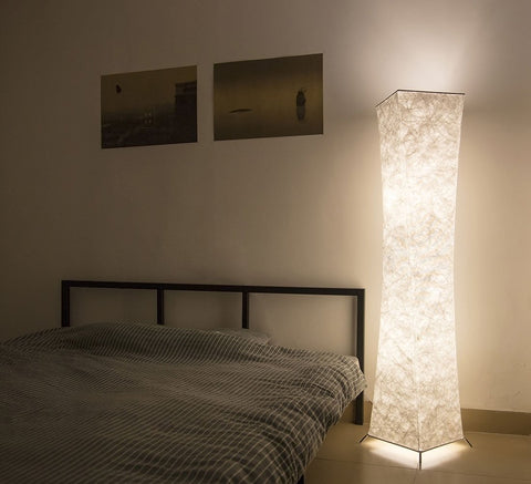 ... Here : Https://uskyled.com/collections/creative Lights /products/minimalist Modern Floor Lamp With Fabric Shade Warm Bedroom  Living Room Floor Lights