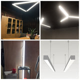Commercial indoor suspended led linear pendant light BK-P5070L12-40W