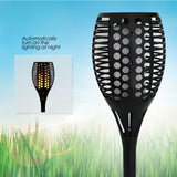 Solar Path Torches Lights Waterproof Flame Lighting 96LED Flickering Torch Lights for Garden/Pathways/Yard