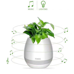 Bluetooth speaker music flower pot touch swift with night light Music Flower Pots