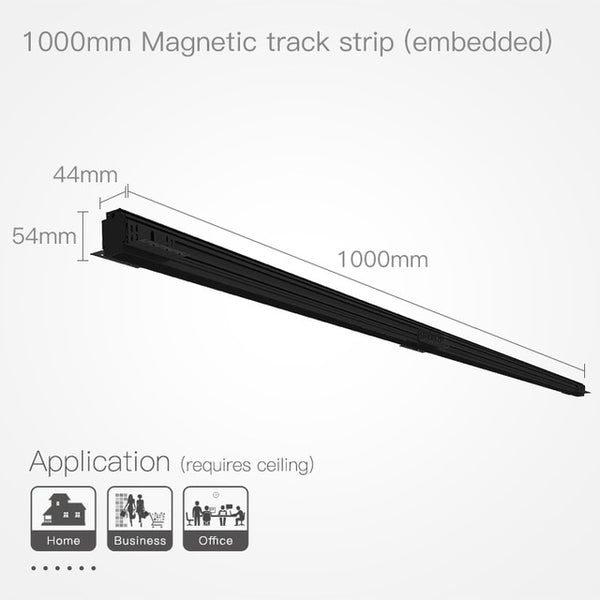 1M aluminum ceiling embedded pendant surface mounted 3 install methods creative led track light magnetic channel