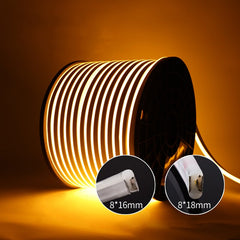 USKYLED DC 12V Soft Led Strip Neon Tape Rope Bar Light Silicon Outdoor Decoration Waterproof Fireproof Flexible Neon Tapes