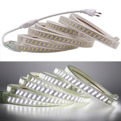 Super Bright AC220V SMD 2835 LED Strip 276Leds/m Flexible Waterproof Led Neon Rope Home Living Room Decoration With EU Plug