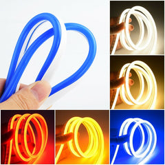 1205 Neon light 12V LED Strip Silicone 120LEDs/M 6mm Narrow Flexible Curved Tube Waterproof for DIY Christmas Holiday Decor Light