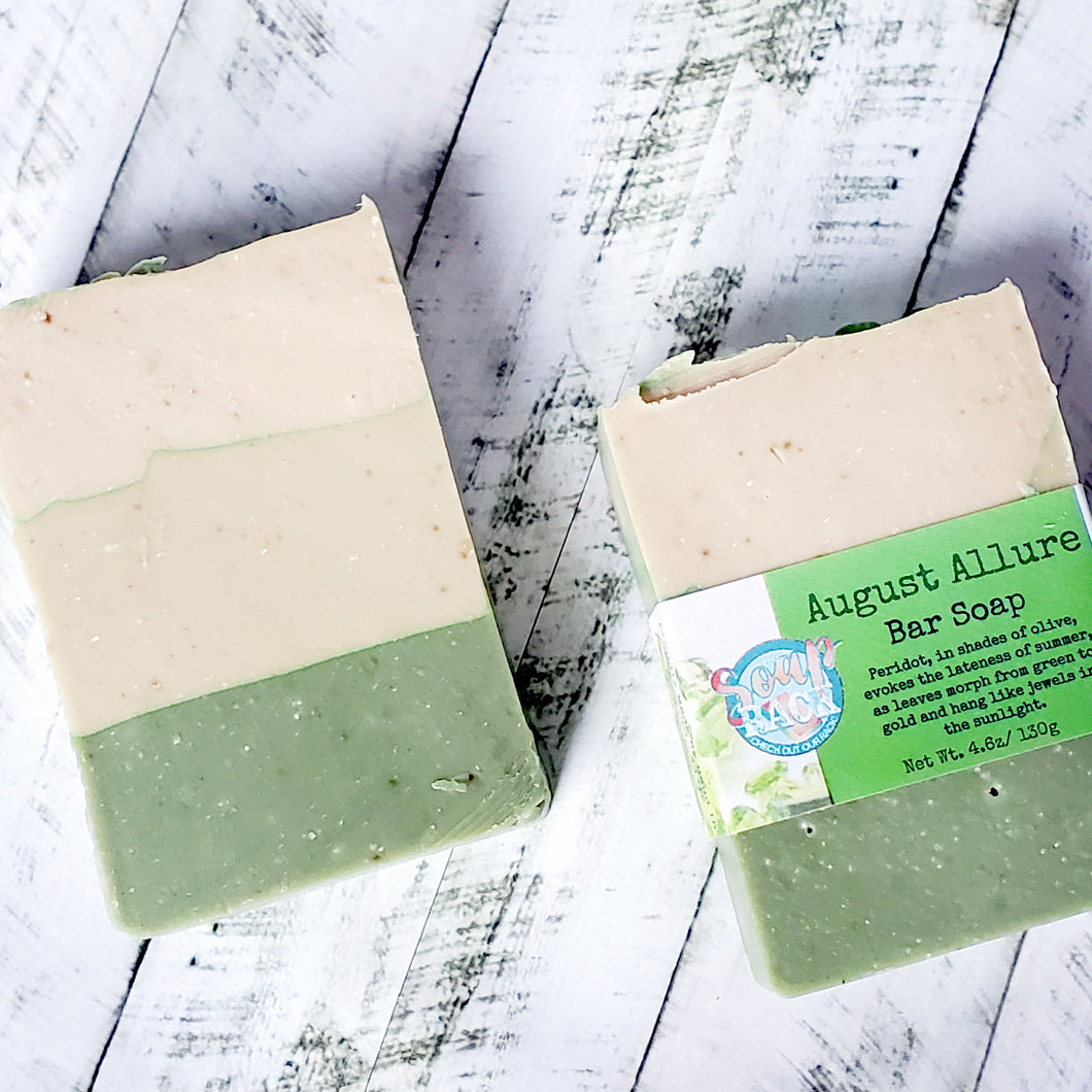 August Allure Bar Soap with Peridot