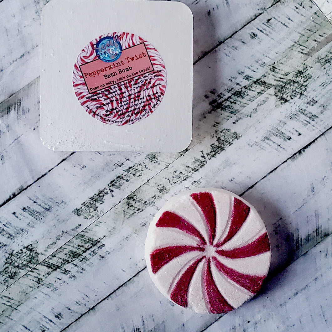 Peppermint Twist Bath Bomb