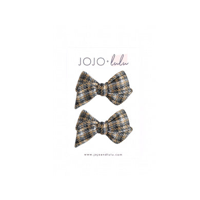The mini Georgia Pigtail Set  ::  Gray Plaid