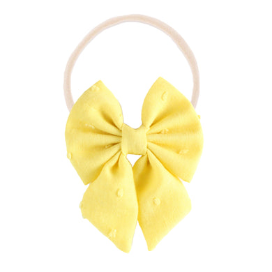 The mini Evie  ::  Yellow Swiss Dot
