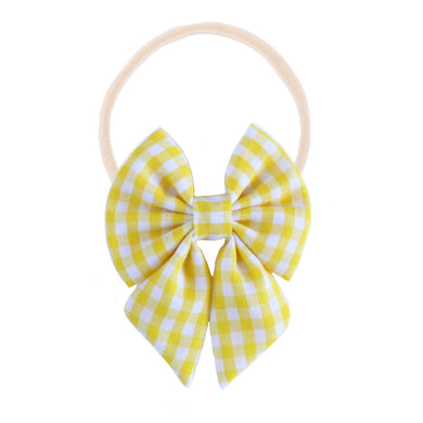 The mini Evie  ::  Yellow Gingham