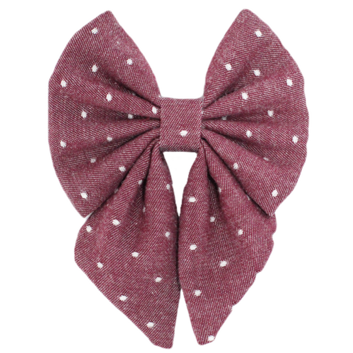 The Evie  ::  Burgundy Chambray Dot