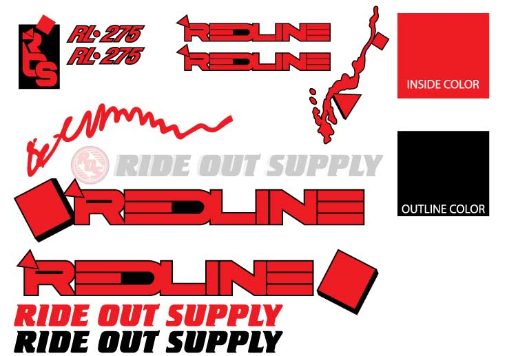 ROS RL 27.5 Outline Sticker kit