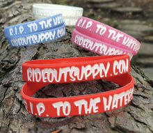 R.I.P. to the HATERS Bar / Wrist Bands - Sold in Pairs
