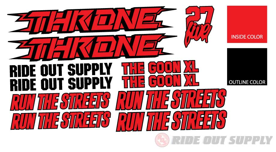 ROS Throne Goon XL Outline Sticker kit